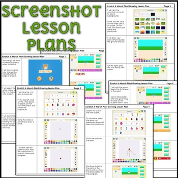 March Scratch Jr Lesson Plan - Growing Plant
