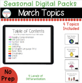 March Seasonal Digital Packs for Special Education Boom Le