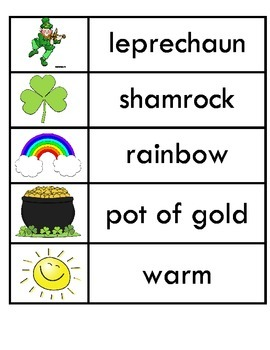 March Seasonal Word Wall Words