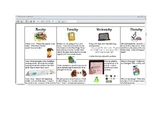 March Second Grade Homework Calendar + Graphic Organizers (Editable)