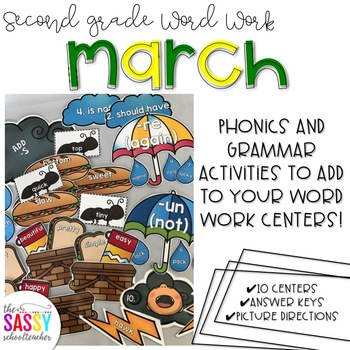 March Second Grade Literacy Centers