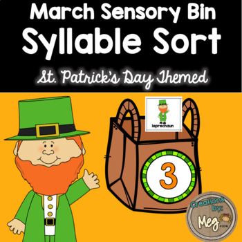 March Sensory Bin Practicing Syllables - For Kindergarten and First Grade