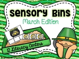 March Sensory Bins - Literacy Centers