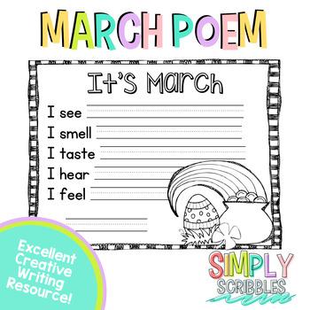 March Sensory Poem