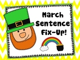 March Sentence Fix-Ups!  St. Patrick's Day
