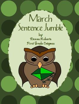 March Sentence Jumble or scrambled sentences