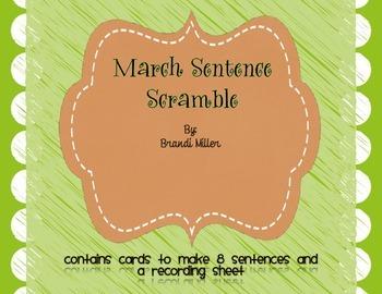 March Sentence Scramble