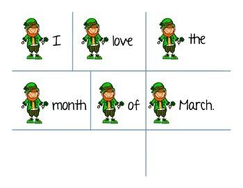 St Patricks Day March Sentence Sort