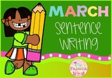 March  Sentence Writing