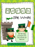 March, She Wrote! My March Writing Journal {20 prompts}