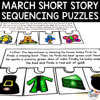 March Short Story Sequencing Jigsaws