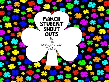March Shout Out