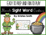 March Sight Word Centers For Kindergarteners