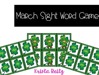 March Sight Word Game