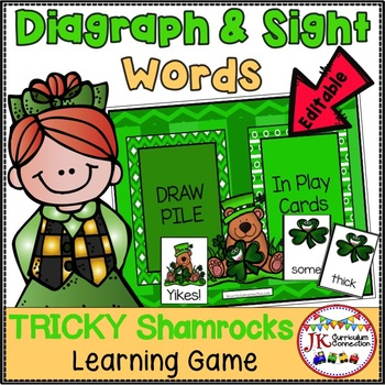 March Sight Word Game - Tricky Shamrocks {EDITABLE}