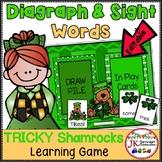 March Sight Word Game - Tricky Shamrocks {EDITABLE}