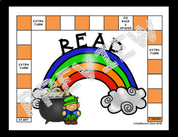 March Sight Word Partner, Print & Play Board Games