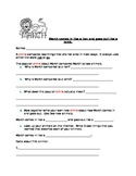 March Simile Activity-In Like a Lion, Out Like a Lamb