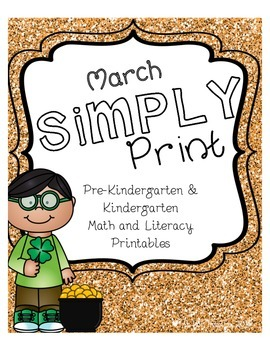 March Simply Print Pre-K & Kindergarten Math & Literacy Printables