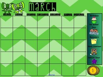 March Smartboard Calendar
