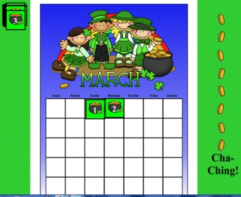 March Smartboard Calendar Lesson