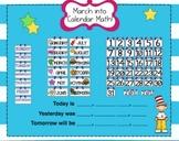 March Smartboard Calendar Math