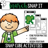 March Snap Cube Fine Motor Tub Activities- Snap It