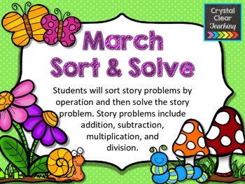 March Sort and Solve Word Problems