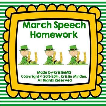 March Speech Homework