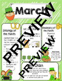 March Speech Newsletter