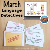 March Speech Therapy Language Activity | Comprehend Descriptions and Describe