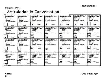 March Speech and Language Homework