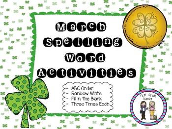 March Spelling Activties