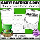 Preschool March Fine Motor Journal (Saint Patrick's Day & Spring Themed)
