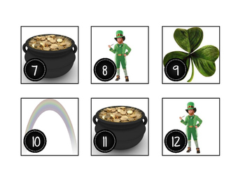 March St. Patrick's Day Calendar Cards-Real Photos