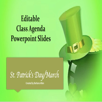 March/St. Patrick's Day Editable Powerpoint Template