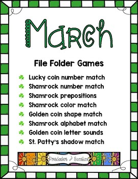 March/ St. Patrick's Day File Folder Activities