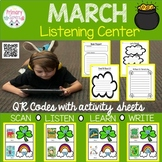 March Listening Centers with QR codes--28 books with Comprehension sheets
