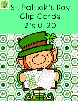 #Spedspringsahead St.Patrick's Day Number Correspondence Clip Cards