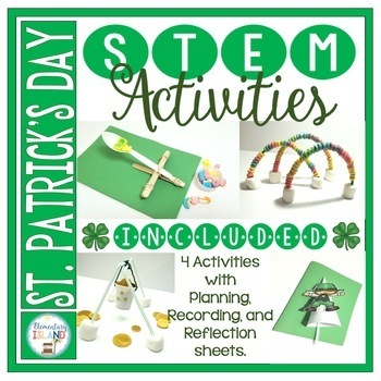 March Activities St. Patrick's Day STEM Engineering Challenges