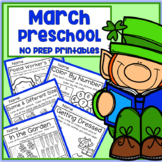 March St. Patrick's Day Spring Preschool Printable Packet NO PREP - All Subjects