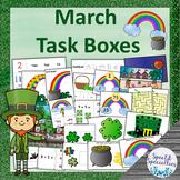 March St. Patrick's Day Task Boxes - Literacy, Math, Basic Skills, Fine Motor