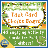 March St. Patrick's Day Task Card Choice Board