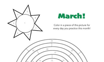 March - St Patrick's Day Themed Piano Practice Chart!
