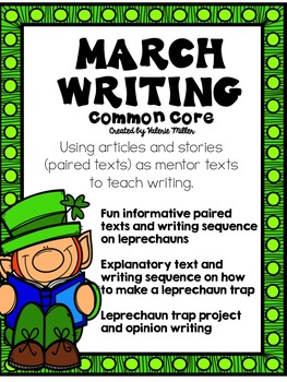 March (St. Patrick's Day) Writing and Leprechaun Trap Project