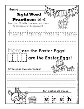 March St Patrick's Day and April Easter NO PREP Literacy Kindergarten Pack!
