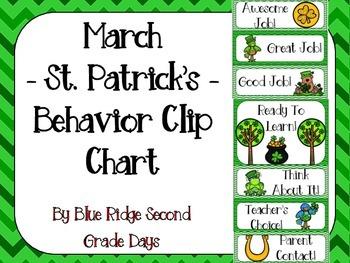 March St. Patrick's Day Behavior Clip Art