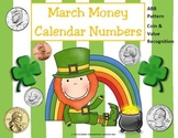 March (St. Patrick's Day) Calendar Numbers- ABB Pattern & Coin Identification