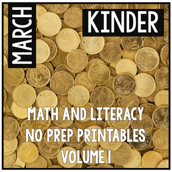 March St. Patrick's Day Kindergarten Math and Literacy NO