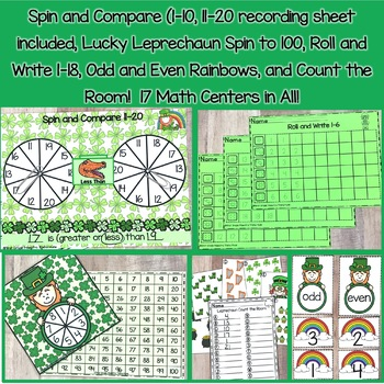 March St Patricks Day Math Centers